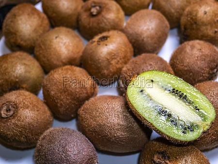 kiwi fruit on a plate