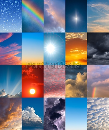sky in various weather