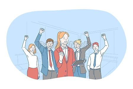 success agreement business development concept
