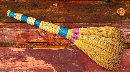 wicker broom made of sorghum for