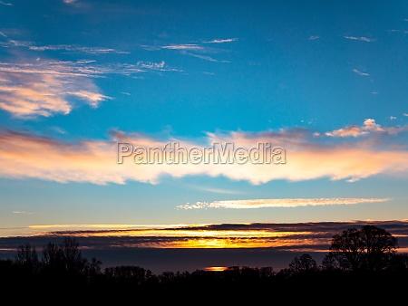 morning sunrise on the horizon with