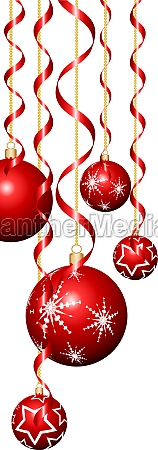christmas baubles and streamers