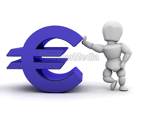 person with euro sign