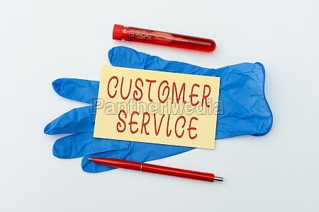 writing displaying text customer service business