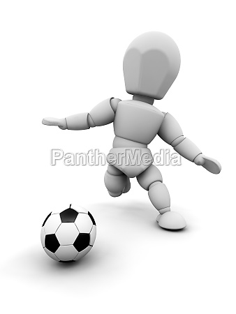 person with football