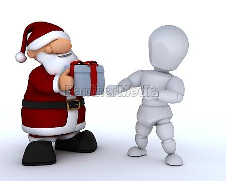 white character and santa claus