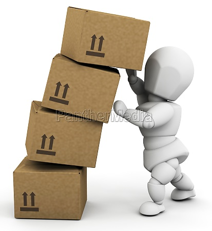 person holding up boxes