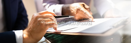 signing business document contract