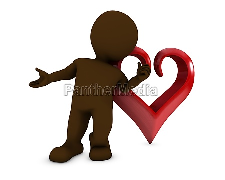 morph man with heart