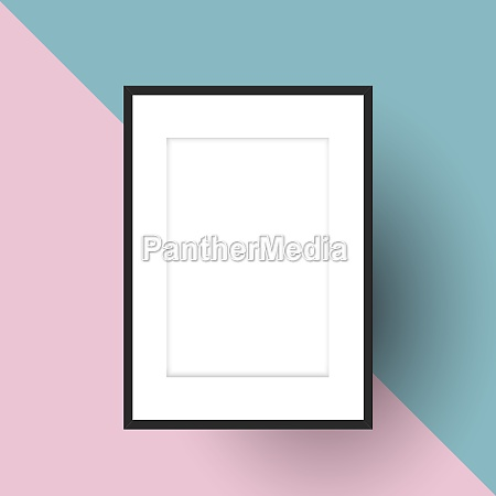 blank picture frame on two tone
