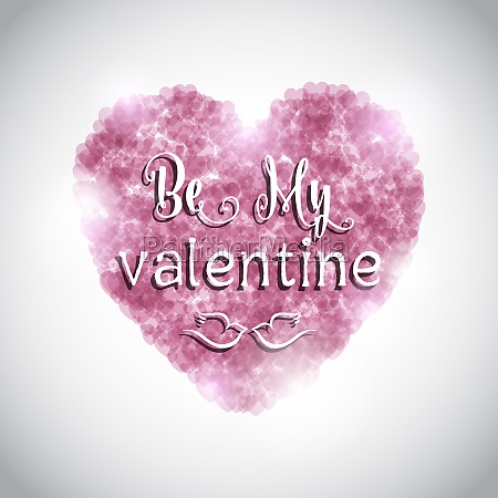 valentines day background with pink heart