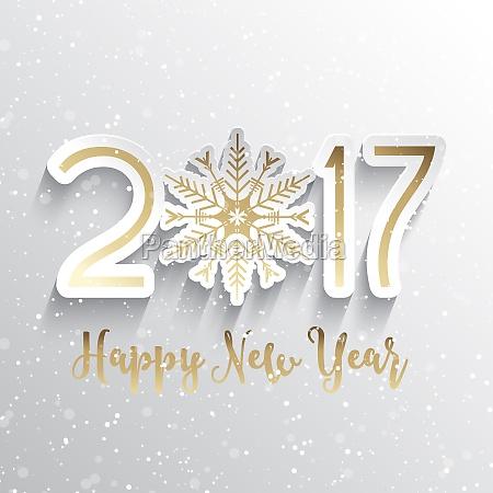 snowflake happy new year background