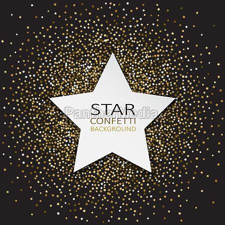 star confetti background