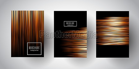 brochure templates with gold stripe designs