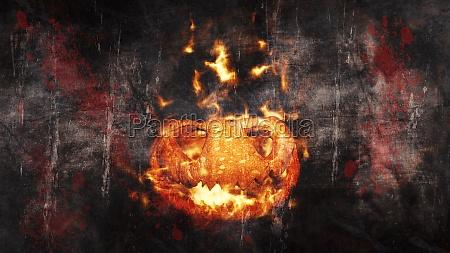 halloween pumpkin jack o lantern burning