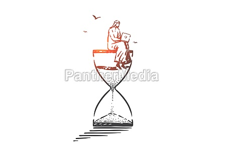 time management freelance concept sketch hand