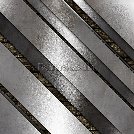 abstract metallic texture on a wooden