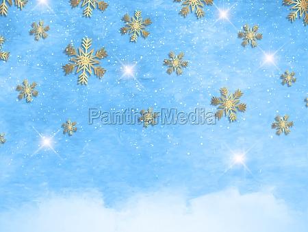 christmas snowflakes on a watercolour texture