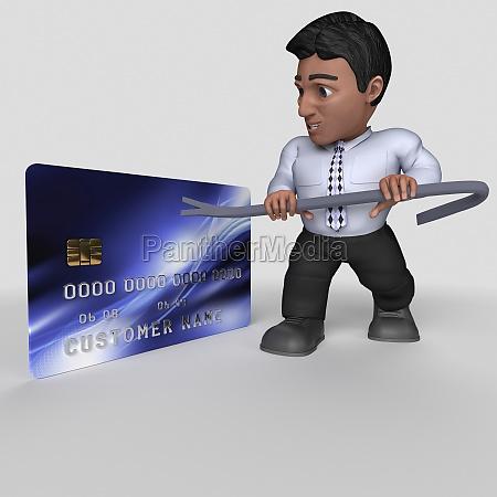 3d cartoon business character