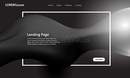 black and white website landing page