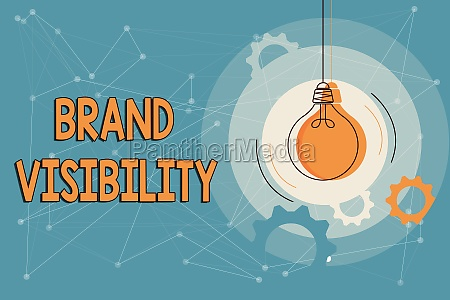 conceptual caption brand visibility word for