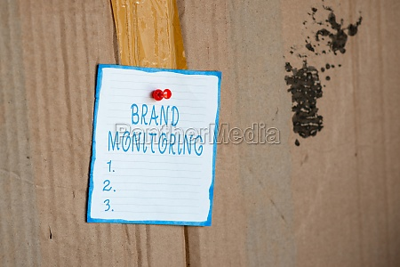 inspiration showing sign brand monitoring business