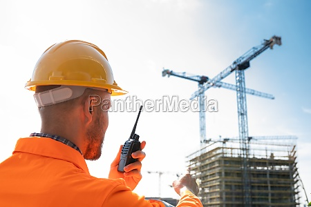 osha inspection worker at construction site