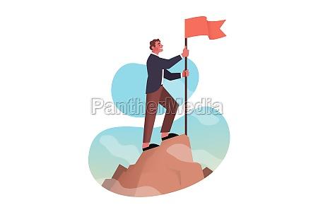 leadership conquest goal achievement success business
