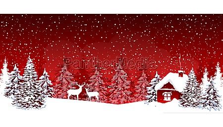 snowy night on christmas eve