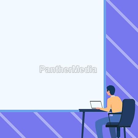 man drawing sitting on armchair using