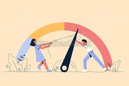emotional stress teamwork burnout concept