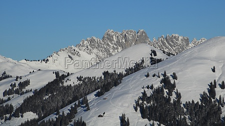 gastlosen snow covered mountain range near