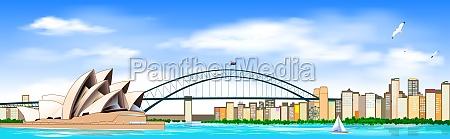 sydney city landscape panorama