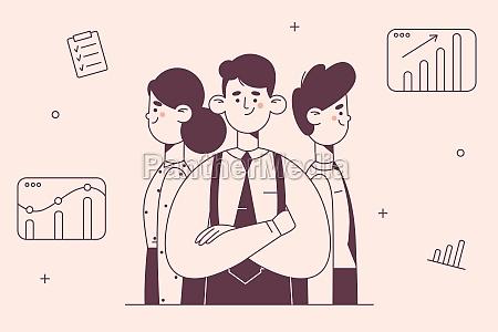teamwork coworking business development concept