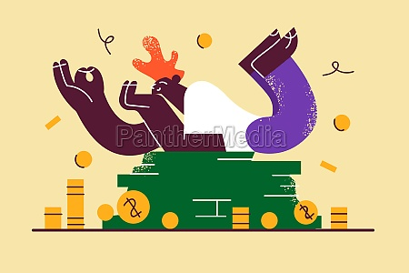 financial success wealth money concept