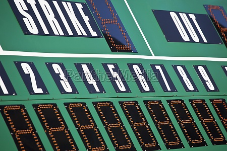baseball scoreboard green board and large
