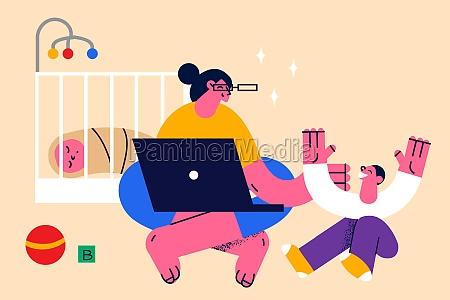 motherhood and happy childhood concept