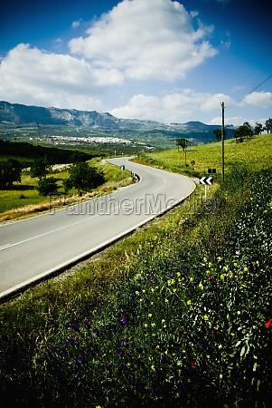 winding road through rural landscape