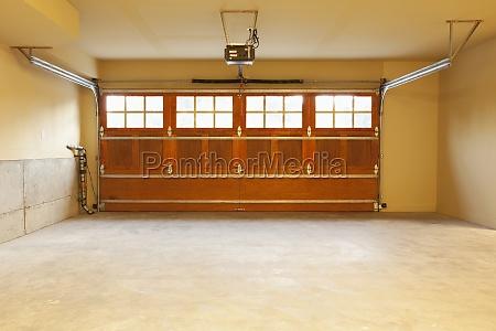 interior of an empty domestic garage