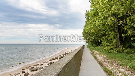 footpath at cape rozewie in poland