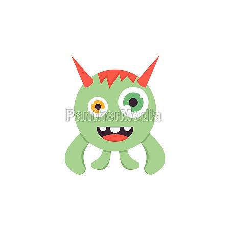 cartoon monsters mascot icon vector illustration