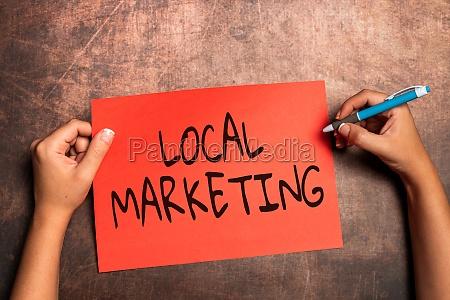 inspiration showing sign local marketing business