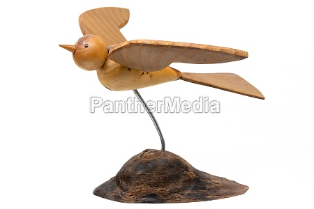 wooden model of a turned flying