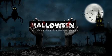 halloween concept in fantasy night