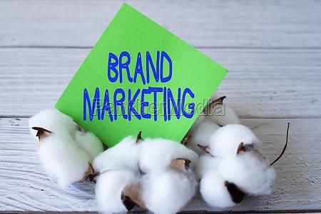 text caption presenting brand marketing word
