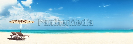 relax on tropical beach in the