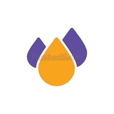 drop water vector flat glyph icon
