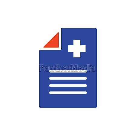 medical report clinical record vector glyph