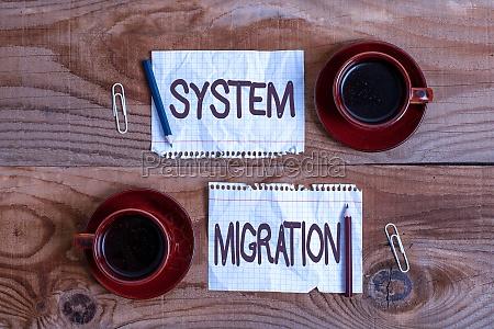 conceptual caption system migration business overview