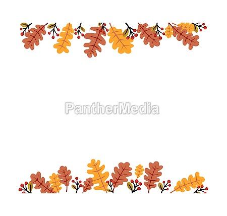 autumn season background with free space